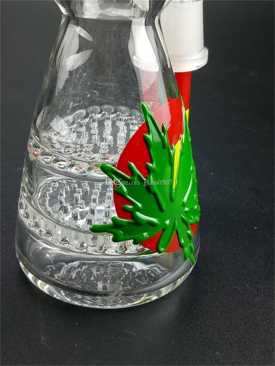 Hottest Sale High Quality Glass Bong Height 16cm Straight Pipes Honeycomb Branch Cute Cheap Bongs Water Oil Rig