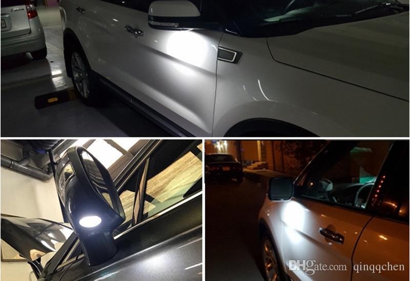 Para Ford LED Lado Espelho Puddle Lâmpada Luz Branco 18LED Para Explorer Mondeo Borda Taurusp F150 Pick Up Heritage 2 pçs / lote