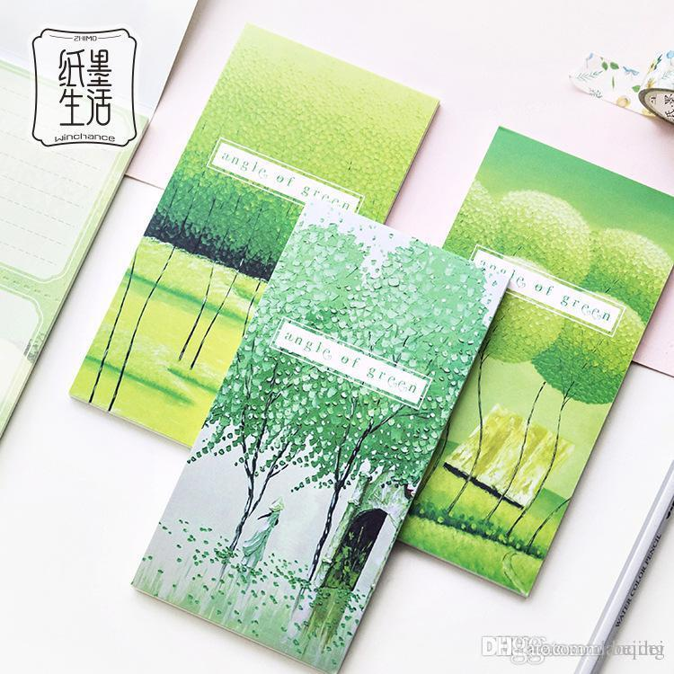 2018 30pages free green forest notepad memo pad self adhesive sticky