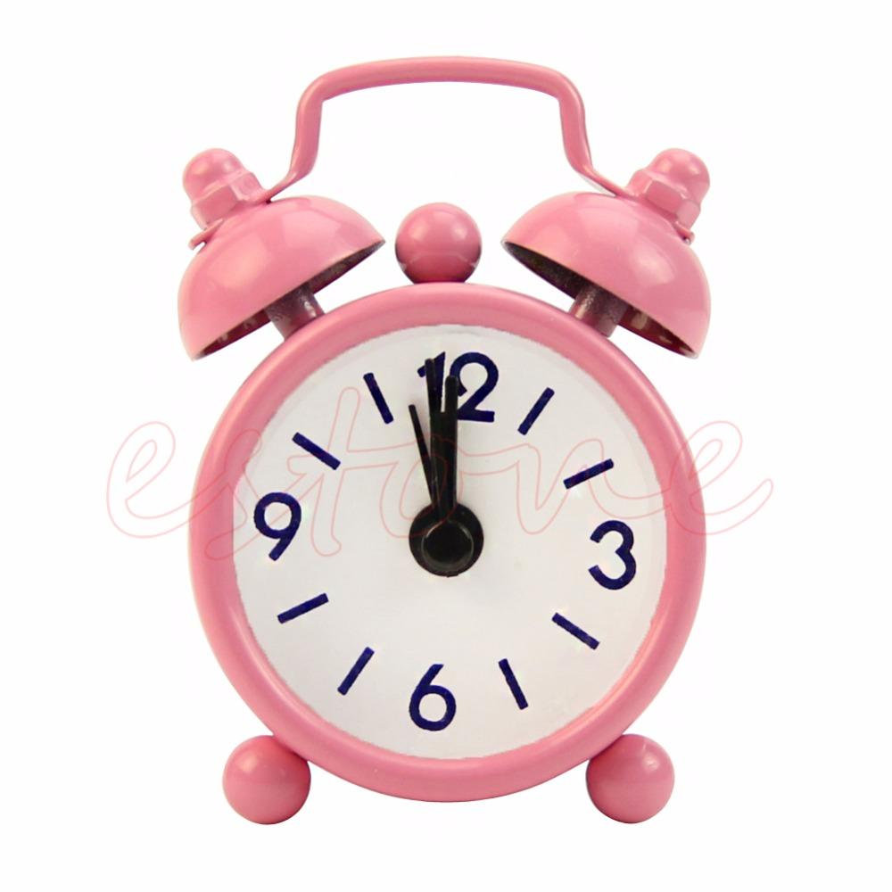 2018 Candy Colors Lovely Cartoon Alarm Clocks Dial Number Round Desk Clock For Kid House Decoration Snooze Function From Starch