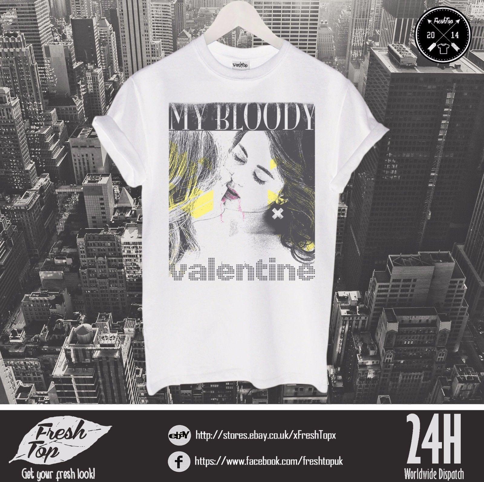 dd33e2280d59e My Bloody Valentine T Shirt Top Rock Band Concert Gift Kevin Shields  Bilinda Tees Custom Jersey t shirt
