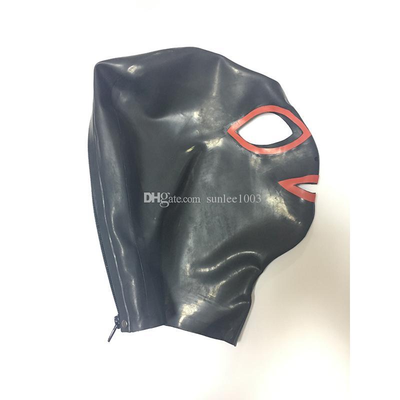 New Sexy Body esotico Donne Cappe in lattice Maschera Open occhiello Splicing colore Comune Cappuccio Femminile Spedizione Gratuita Consegna veloce