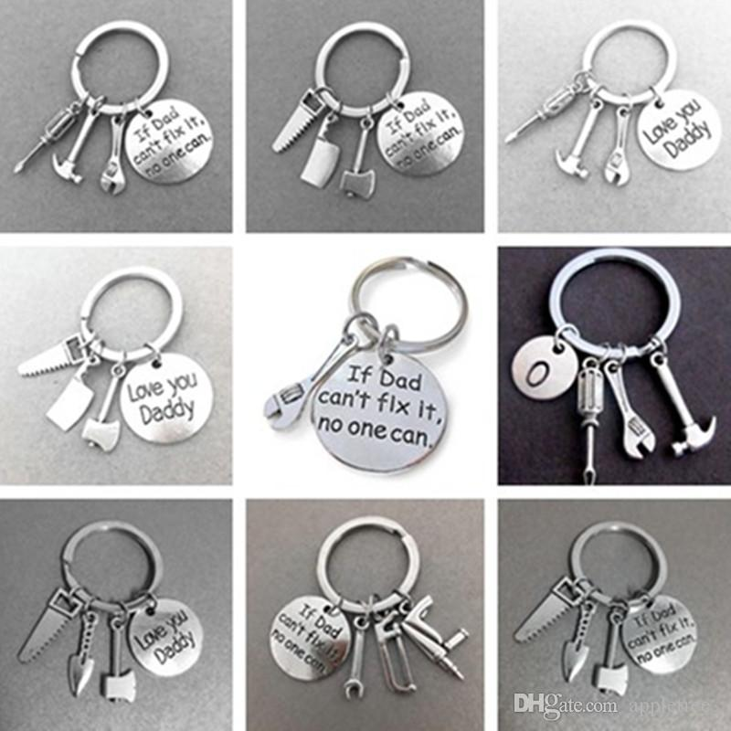 Fashion Hand Tools Keychain,Daddy Keyring Dad Gift Fathers Day Father
