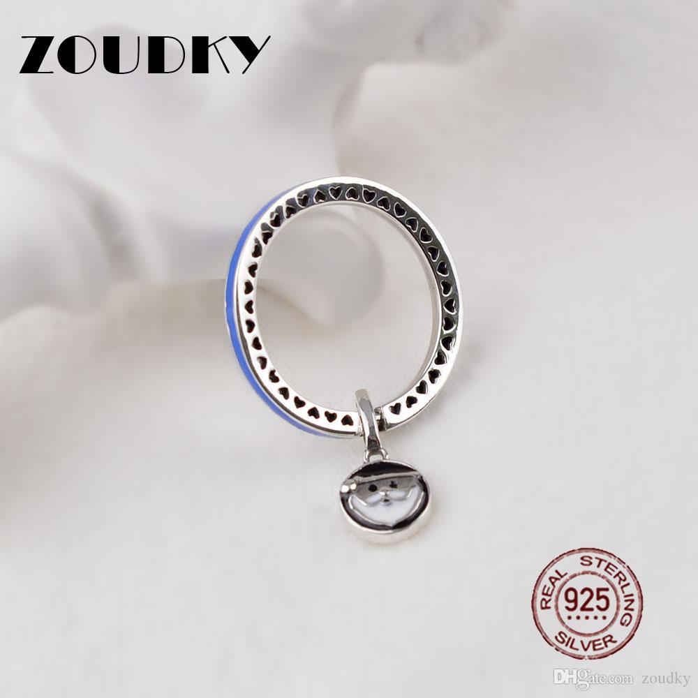 ZOUDKY100% New Santa Claus Ring in Sterling Silver Women's Fashion Pendant Ring