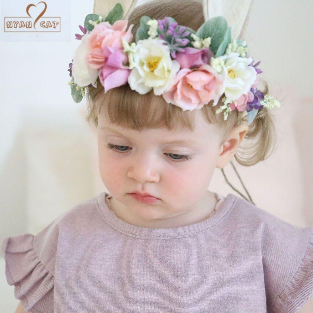 2018 New Hair Nylon Headband Childrens Birthday Gift Baby Princess