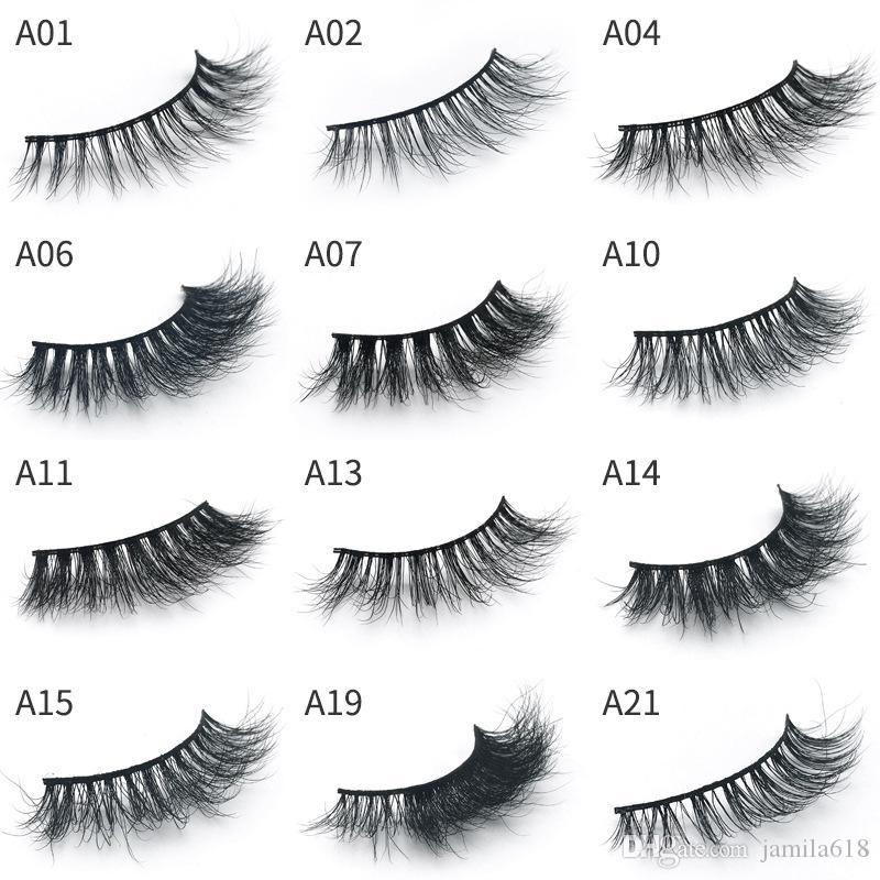 d1d916e1e07 Hot Mink 3D Lashes Makeup Full Strip Eyelashes Thick Fake Eyelashes ...