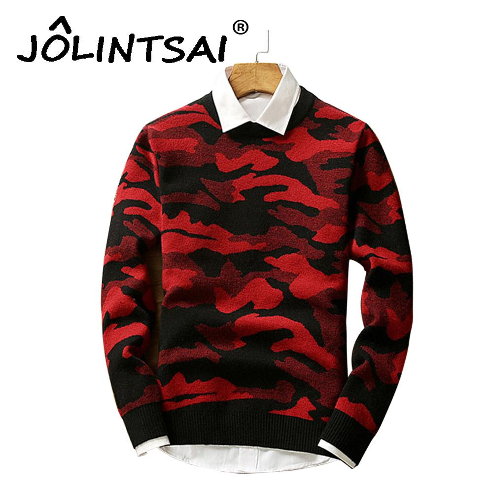 273eb82356345 2019 Winter New Arrival Fashion Men Pullover Camouflage Knitted Male  Sweater O Neck Casual Long Sleeve Warm Pullovers Men Sweaters From  Lookpack