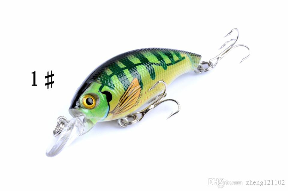 7.5 cm 8.4 g Fishing Lure Minnow Hard Bait with Japan Crank Bait Fishing Tackle Lure 3D Eyes