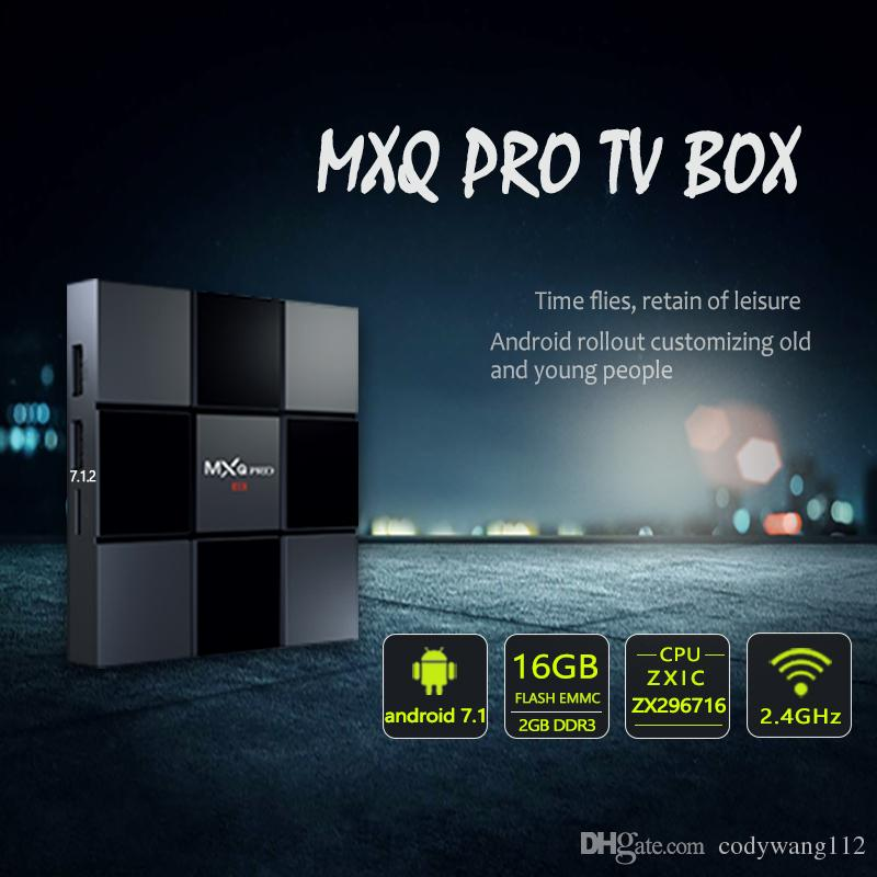 MXQ PRO 2GB 16GB 4K TV Box 17.6 Quad Core Android 7.1 Smart OTT TV Set Top Boxes