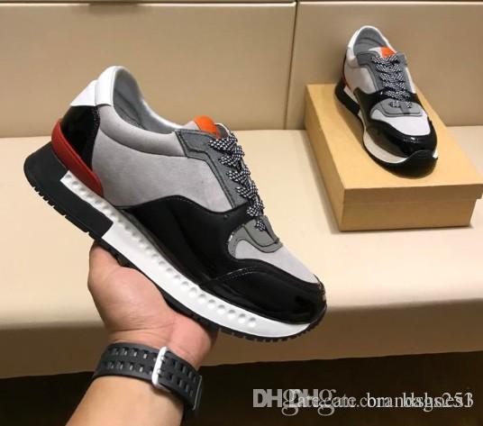 new styles e9782 a7ab7 Acheter Nouveau Hommes Casual Chaussures De Luxe Marque Instagram Populaire  Courir Away Chaussures De Sport Sneaker Patch Couleur En Cuir Robe  Chaussures ...