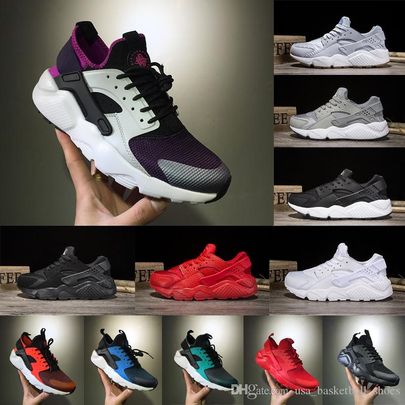 c647973ae780 2018 Huarache 1.0 Triple Black White Red Gold Oreo Men Women Huarache Shoes  Huaraches Running Shoes Top Quality Sports Sneakers Eur 36 45 Shoes For Men  Mens ...
