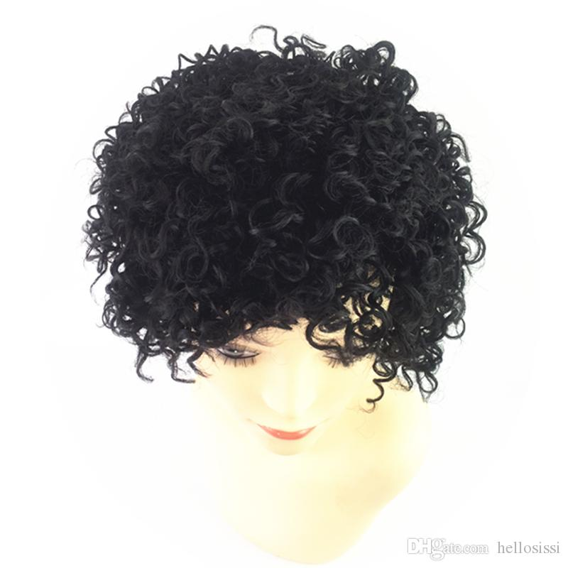 2017 Hot sale Peruvian human cut hair wigs full short pixie cut wigs for black women human cut hair wigs