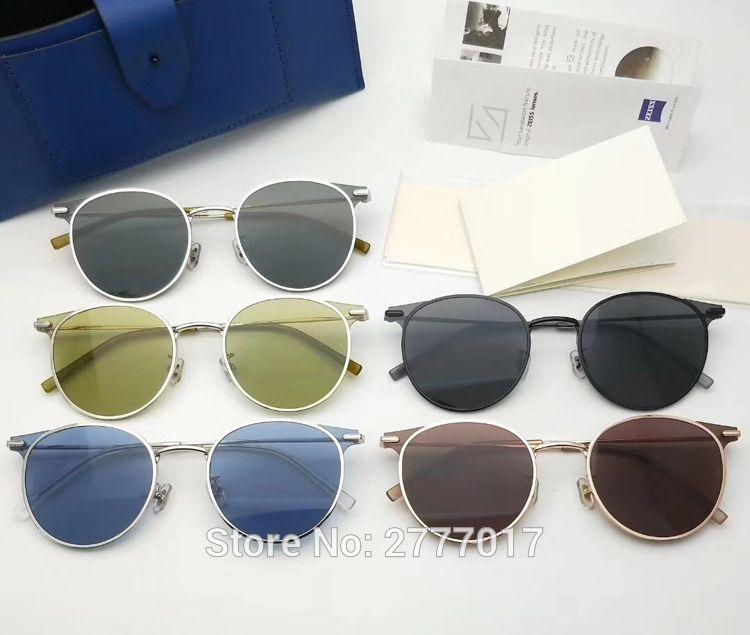 d8988ccbcd86b Compre Gentle Moor Designer Clássico Polarizada Condução Rodada Óculos De  Sol Dos Homens Retro John Lennon Óculos Mulheres Óculos De Metal Da Moda De  ...