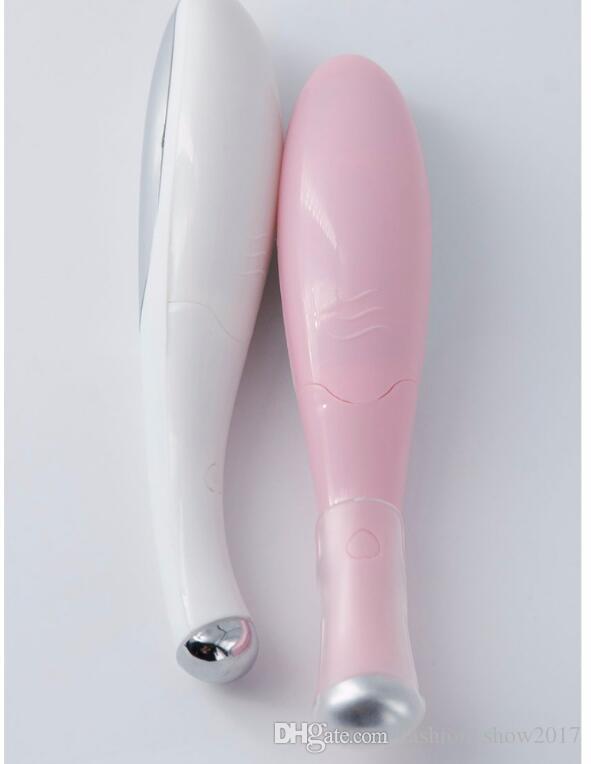 Dispositivo de belleza Mini dispositivo de masaje Tipo de pluma Masajeador de ojos eléctrico Faciales Vibración Fina cara Stick mágico
