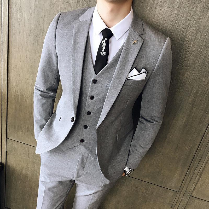 Satın Al Takım Elbise Erkek Kore Ince Ingiliz Tarzı Erkek Takım