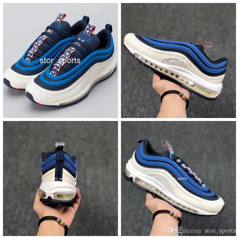 53771684563 2018 Max97 Obsidian University Red Sail Blue Nebula Pull Tab Pack Running  Shose For Men
