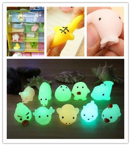 Raros Luminoso Juguete Squishy Cat Jumbo Encantos Squishies Regalos Bun Kawaii Moda Slow Squeeze Toy Mini Toys Cute Rising Cartoon Animales TOXiukPZ