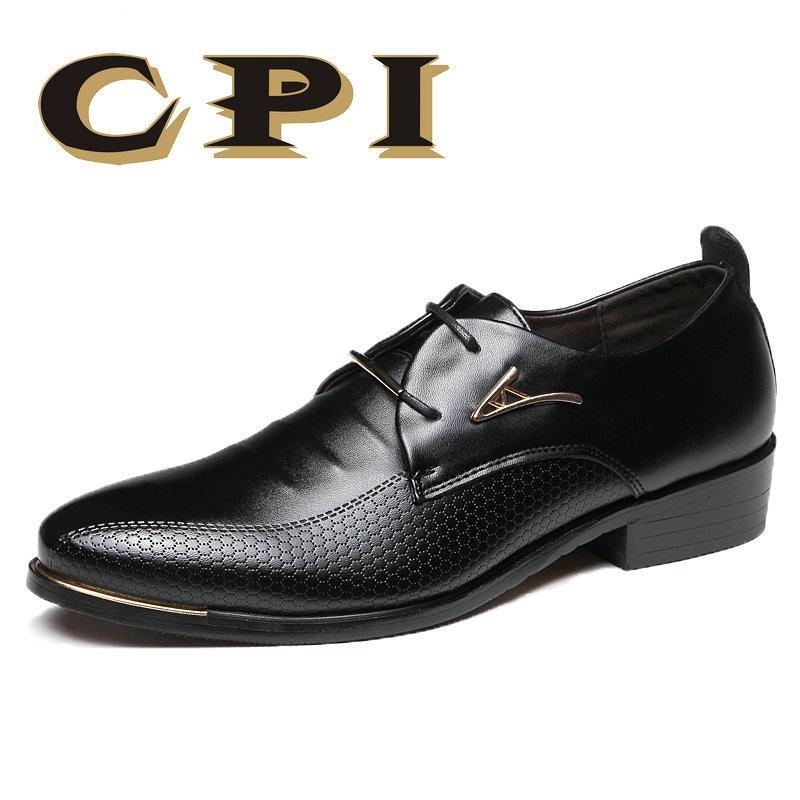 Herren Kleid Schuhe Mode Spitz Schnürschuh herren Business Casual Schuhe Braun Schwarz Leder Oxfords Schuhe Große Größe 38 48 ZY 28