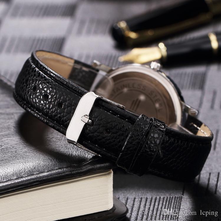 Sıcak Satış kadın / erkek hakiki deri lüks İzle samous Marka erkek / kadın saat severler için toptan perakende kol saati ile hediye kutusu