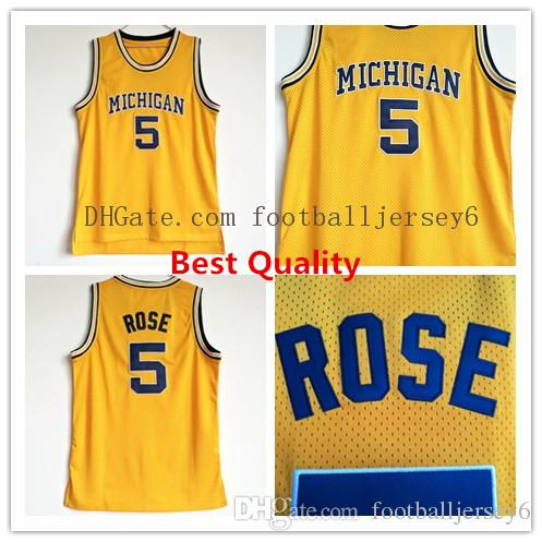2fd42d6b1fe JALEN ROSE #5 COLLEGE RETRO BASKETBALL JERSEY NEW SEWN ANY SIZE Other Fan  Apparel & Souvenirs