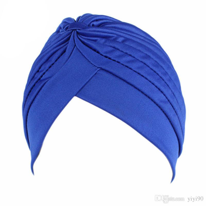 Yeni Müslüman Kadınlar Dimi Strech Kemo Kafatası Şapka Beanie Türban Şapkalar Wrap Cap Kanser Hastaları Için