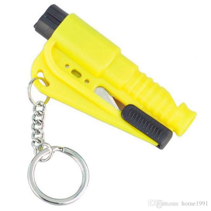 Mini Safety Hammer Auto Car Window Glass Breaker Seat Belt Cutter Rescue Hammer Car Life-saving Escape Tool Key Chain Safety Hammer