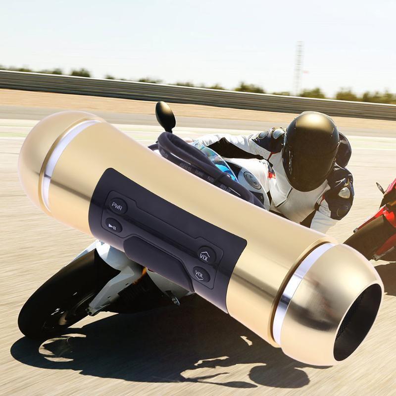 VODOOL Motor Audio Sound MP3 FM Radio Stereo Speakers Waterproof Motorcycle  Sound System Speakers Anti-theft Alarm