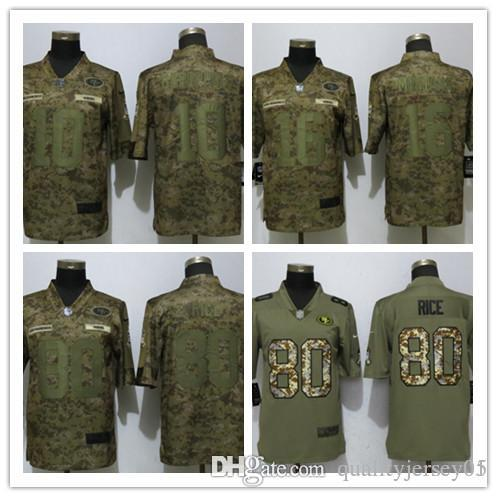 competitive price b5a6c 4ad60 2018 new San Francisco 49ers 10 Garoppolo Camo Limited Mans Football Jersey  #10 Garoppolo 16 Montana 80 Rice Jerseys free shipping