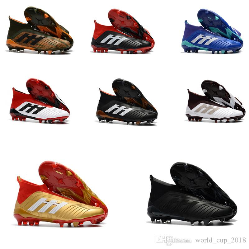 ad6ac74af 2019 2018 Predator 18+ Skystalker Pack Soccer Cleats Mens Shoes Football  Boots New Wholesale Drop Shipping From World cup 2018