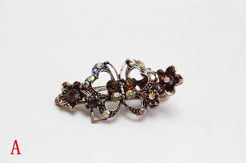 Fashion Butterfly Hair Pin Women Popular Hair Clip Brides Vintage Hair Jewelry Elegant Wedding Accessories 172-1