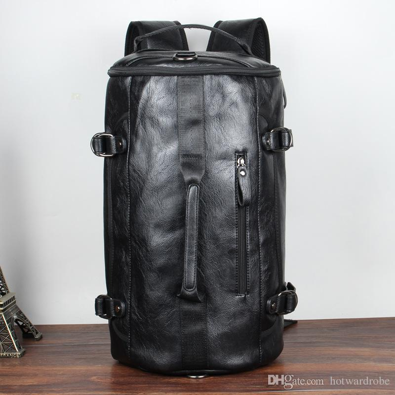 1919d6f852d 2019 Sport Bag Gym Bag Fitness 3 Functions Backpack Shoulder Bags Handbag  Soft PU Leather Waterproof Men Travel Duffel Package Tote From Hotwardrobe,  ...