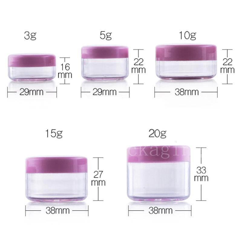 3g 5g 10g 15g 20g jar with pink lid (2)