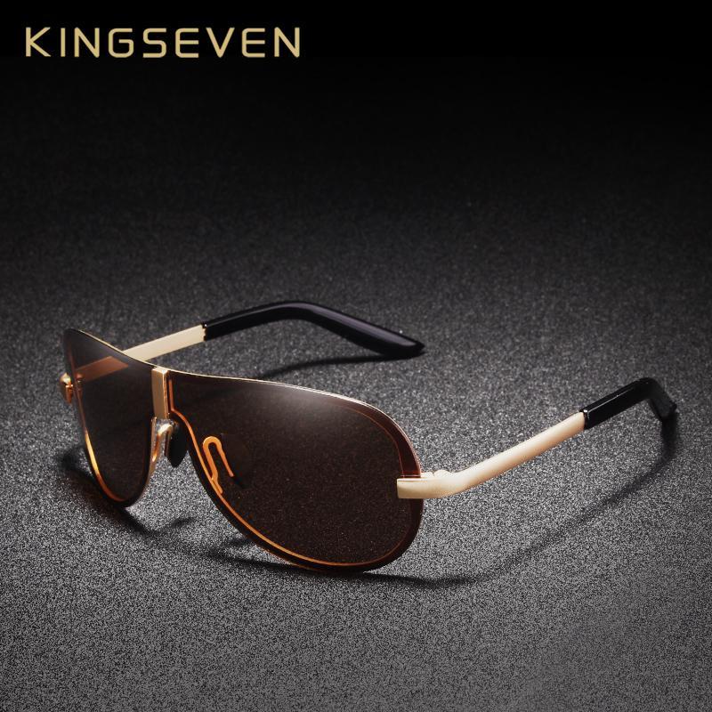 9167678c106d4 Compre KINGSEVEN Marca Designer Óculos De Sol Dos Homens Polarizados  Condução Óculos De Sol Para Acessórios Masculinos Oculos De Sol Masculino  De E6241163