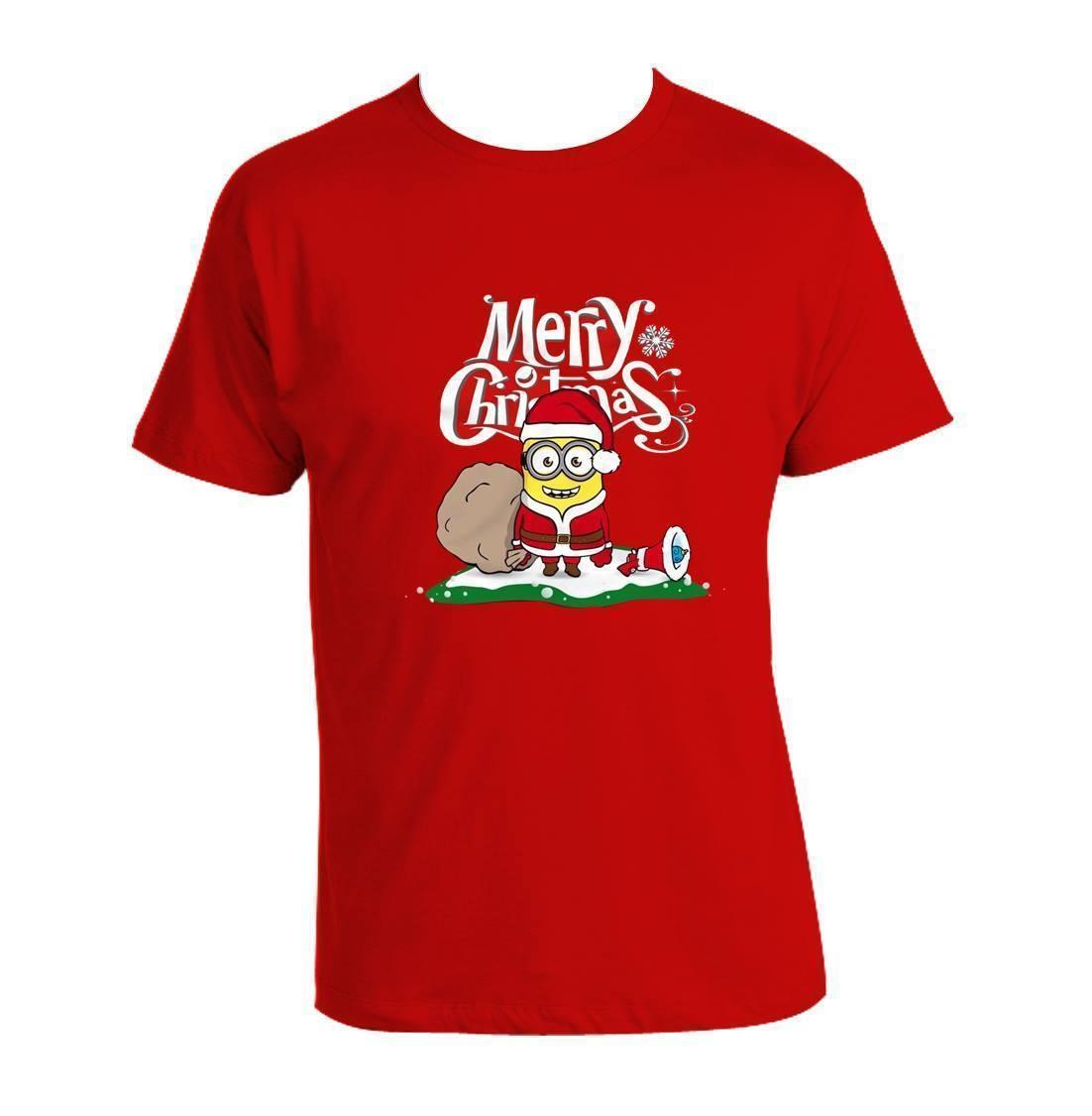 Minions Christmas.Christmas Minions T Shirt Funny Merry Christmas Minions Xmas Gift 100 Cotton Mens 2018 Fashion Brand T Shirt O Neck 100 Cotton