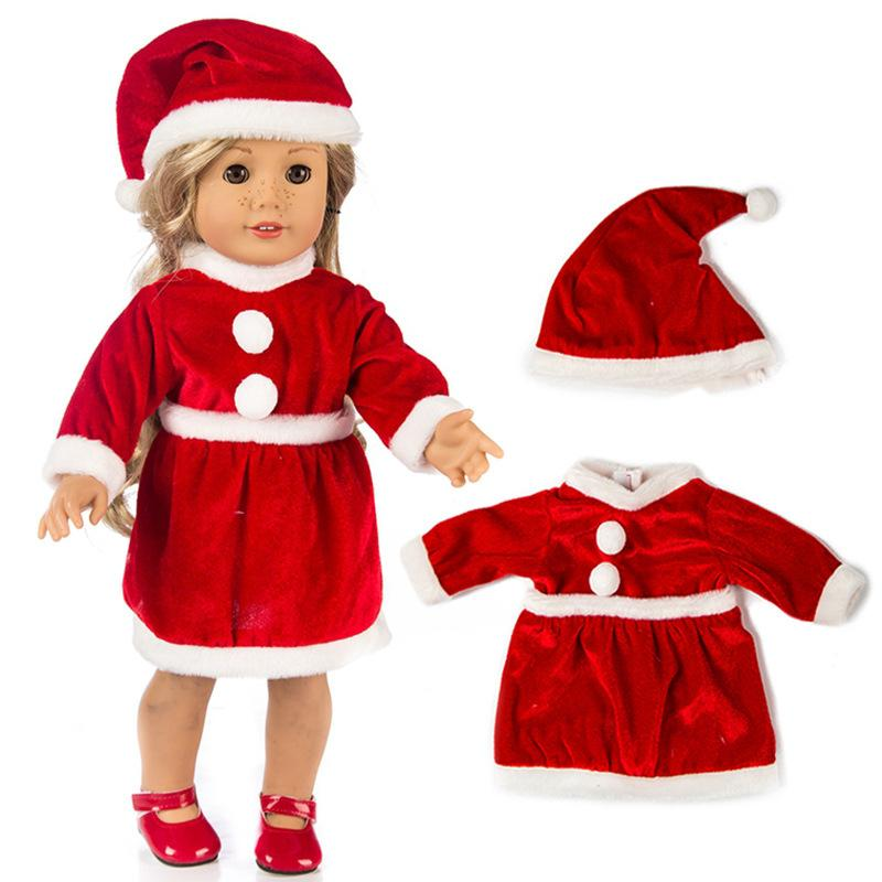 1a8b42f63 18 Inch American Girl Doll Santa Claus Dress Fit For Zapf Babies Doll  Christmas Dress Hat Accessories Accessories For Barbie Baby Doll Bottles  And ...
