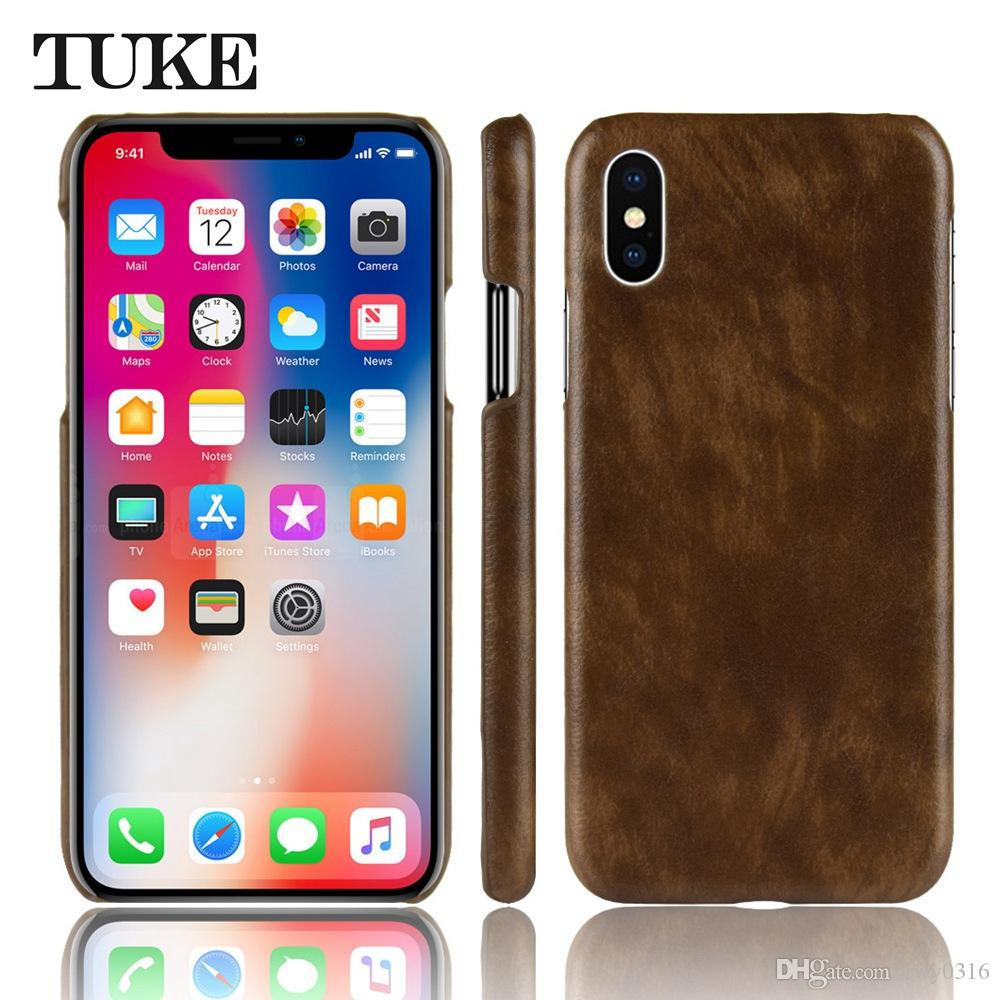 Tuke For Iphone Xs Max Case Luxury Litchi Pattern Leather Hard Back