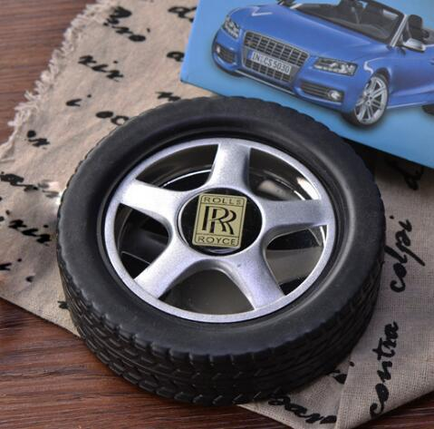 Fashion Creative Rubber Tire Ashtray Portable Outdoor Travel Accessories Clean Ashtray Gift for Man