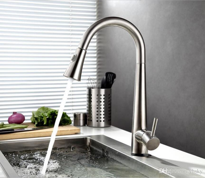 2018 High Quality Stainless Steel Sensor Kitchen Faucet Stainless Steel  Automatic Sensitive Faucets Touch Control Mixer Taps From Yhsky, $163.53 |  Dhgate.