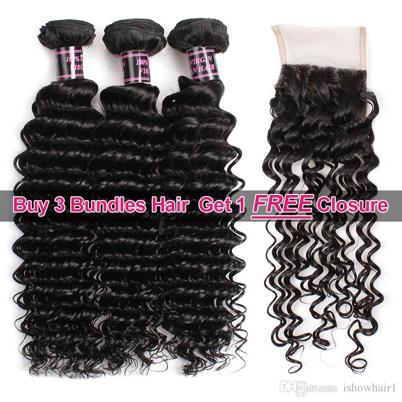 Ishow Hair Big Spring Sales Promotion Buy 3 Bundles Brazillian Deep