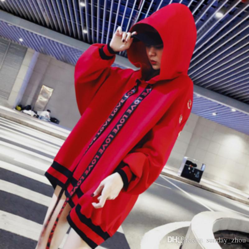 Fashion Trend Explosions Hip Hop Wind Sweatshirt Women s Hooded Long ... 6371a5ae51
