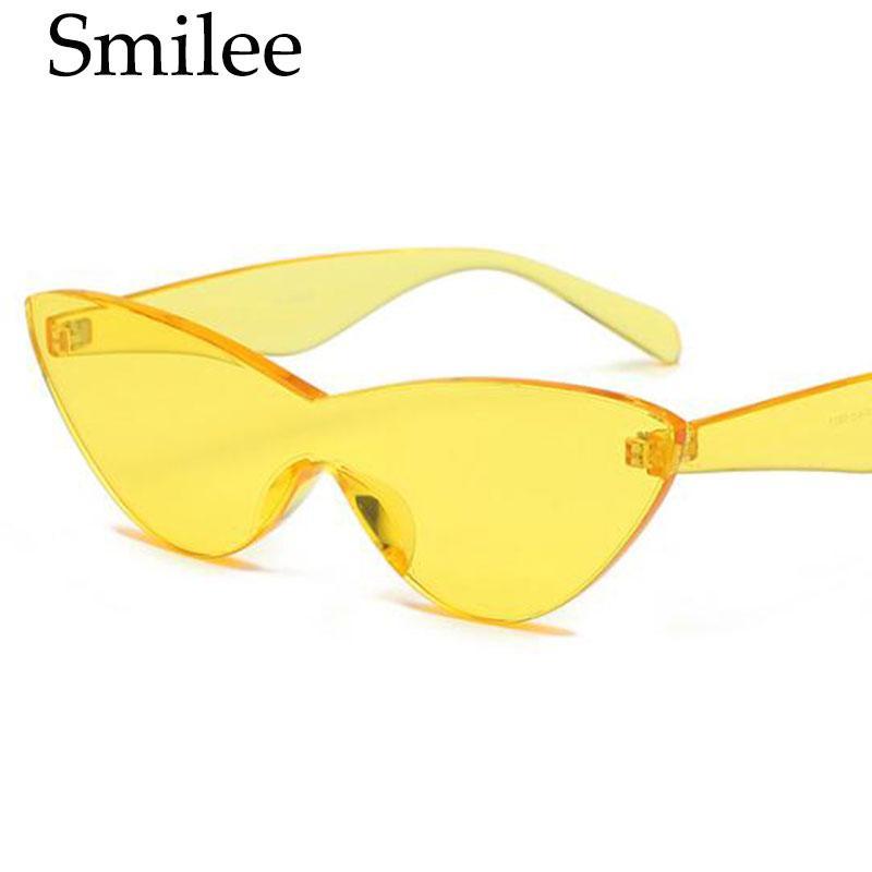 Compre 2018 Novo Colorido Óculos De Sol Mulheres Olho De Gato Óculos ... e175c44958