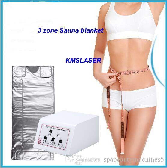 3 Zone Far Infrared Lymph Drainage Body Slimming Sauna Blanket Weight Loss Detox Heating Spa Machine