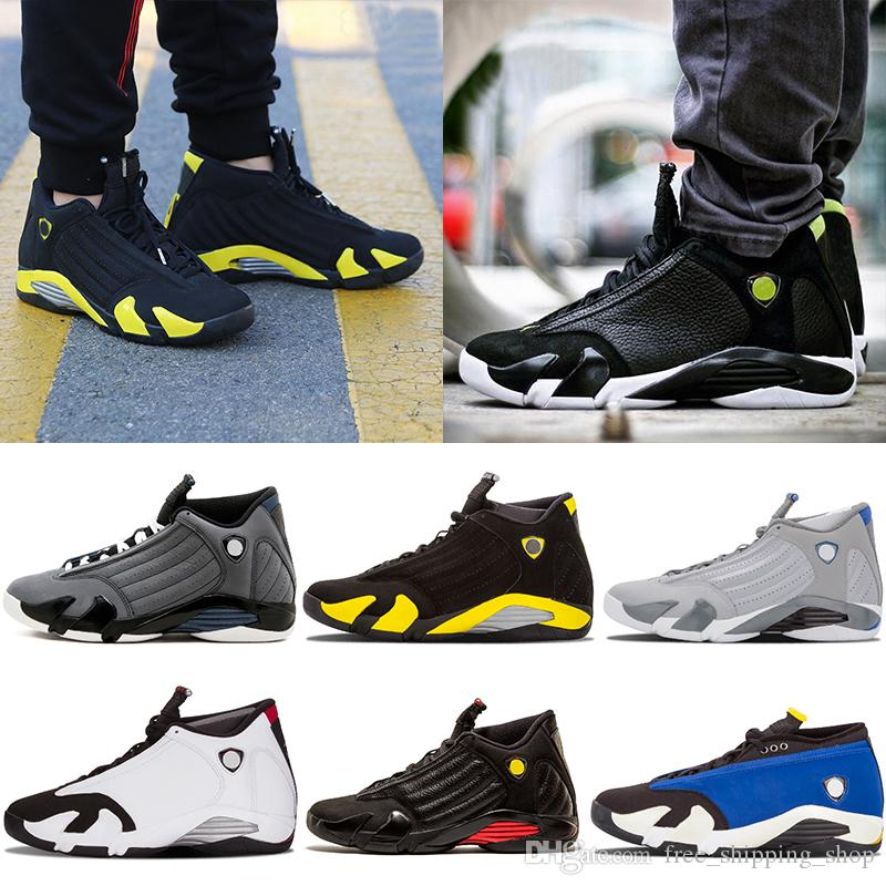 0d6ccdb0994 Classic 14 14s Mens Black Toe Basketball Shoe Last Shot Indiglo Thunder  Wolf Grey Red Mens Sports Sneakers Designer Trainer Shoes Sneakers On Sale East  Bay ...