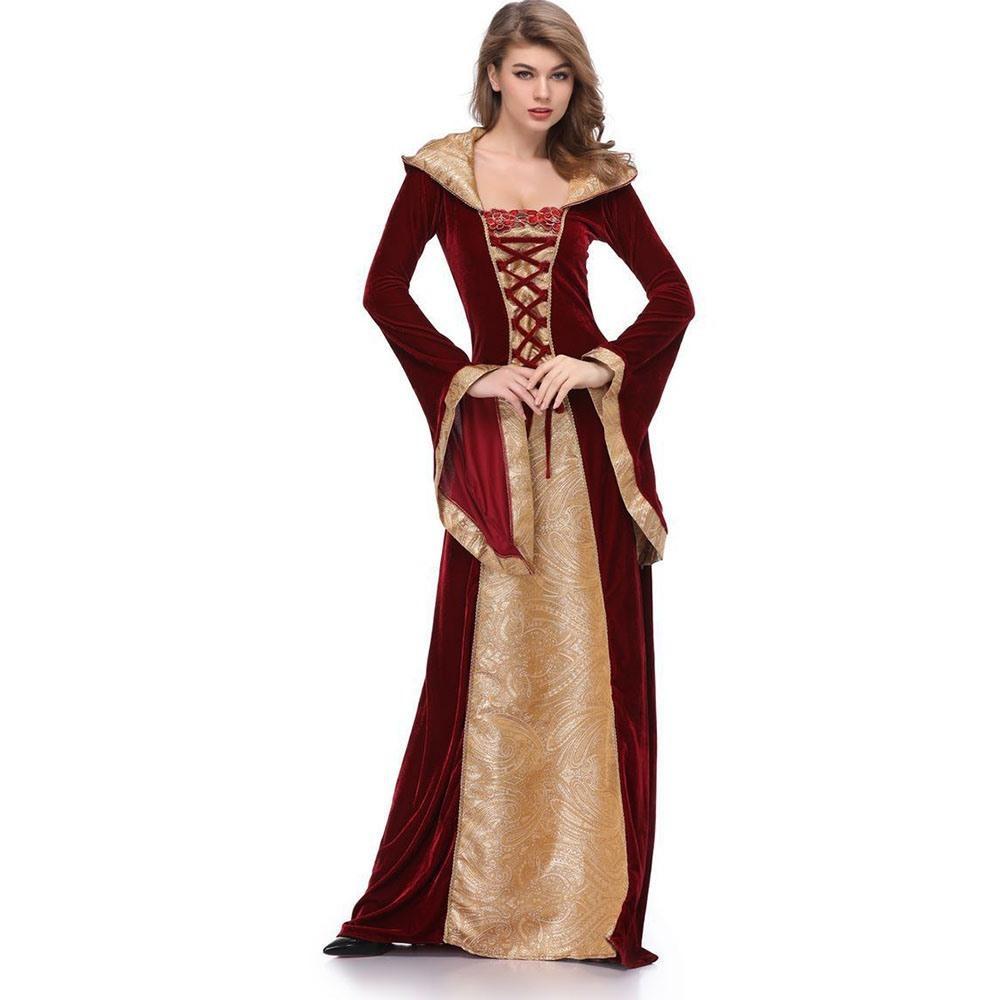 cec5c1567d Compre 2018 Otoño Moda Halloween Estilo Preppy Mujeres Vintage Vestidos  Largos Color Bloque Patchwork Con Cordones De Impresión Vestido De Borgoña  A  64.88 ...