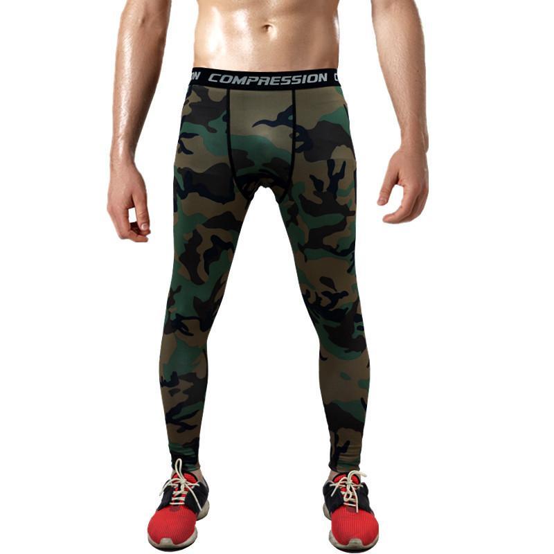 Compre Venta Caliente De Los Hombres De Deporte Leggins Pro Pantalones De  Compresión De Camuflaje De Alta Elástica Corriendo Medias De Baloncesto  Leggings ... 395f148c0ba43
