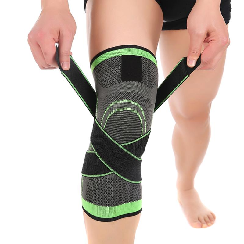 17f3bedc90 2018 3D Pressurized Fitness Running Cycling Knee Support Braces Elastic  Nylon Sport Compression Pad Sleeve For Basketball From Booni, $24.25 |  DHgate.Com