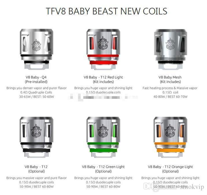 100% Original V8 Baby Coils Head V8 Baby T12 Red Light T12 Green Light  Orange Light Coils For TFV12 Baby Prince TFV8 Baby Tank Tfv12 Prince Baby  Coil Tfv12 ...