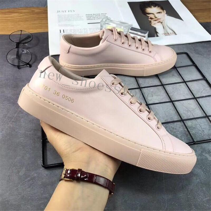 12f0d89e1573b Fashion Wild Italy Brand Common Projects Black White Low Top Shoes For Men  Women Genuine Leather Casual Shoes Flats Chaussure Femme Homme Suede Shoes  Shoe ...