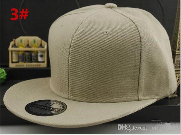 boa qualidade sólida plain snapback em branco chapéus sólidos bonés de beisebol tampas de futebol de basquete ajustável preço barato cap R158