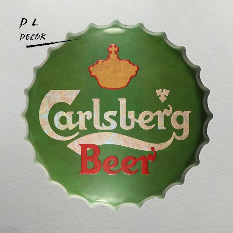 Satın Al Tabela Carlsberg Vintage Metal Boyama Bira Kapak Bar Pub